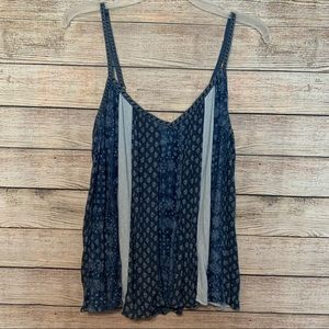 American Eagle Outfitters Blue Striped Tank Top